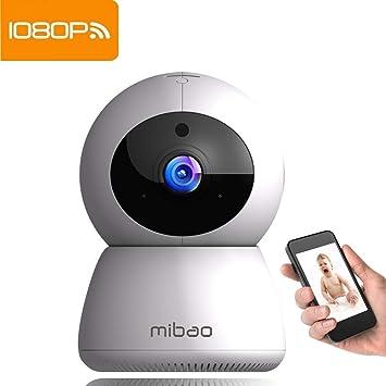 Cámara de Vigilancia Wifi Mibao 1080P Cámara IP Inalámbrica con Grabación de Video, HD Visión