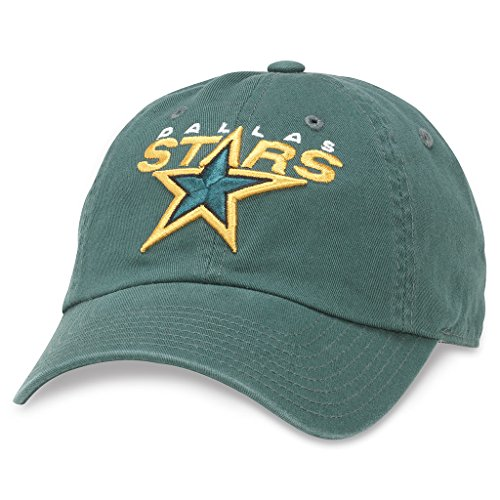 - American Needle Blue Line NHL Team Dad Hat, Dallas Stars, Forest Green (40742A-DAS)