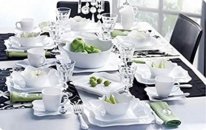 Luminarc Stylish French 19pc Dinnerware Set & Amazon.com | Luminarc Stylish French 19pc Dinnerware Set: Dinnerware ...