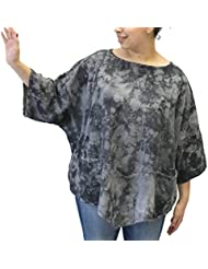 Oh My Gauze Womens Kitty Cotton Blouse Tunic Top One Size Plus