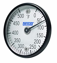 WIKA TI.ST Stainless Steel Surface Mount Bi-Metal Thermometer with Dual Magnet, 2\