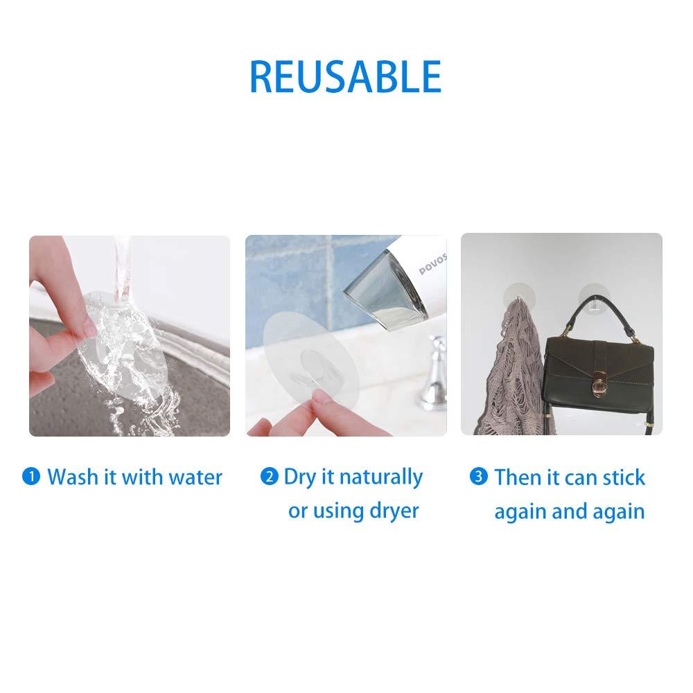 Amazon.com: BABALA Ganchos adhesivos resistentes – 4 ...