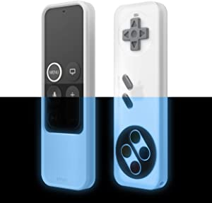 elago R4 Retro Apple TV Remote Case Compatible with Apple TV Siri Remote 4K 5th / 4th Generation - Classic Controller Design [Non-Functional], Extra Protection, Lanyard Included (Nightglow Blue)