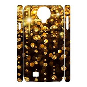 Gold Pattern 3D-Printed ZLB566657 Unique Design 3D Cover Case for SamSung Galaxy S4 I9500