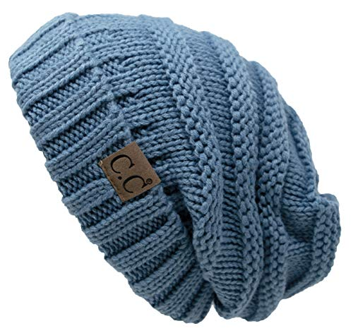 Funky Junque H-6100-73 Oversized Slouchy Beanie - Denim