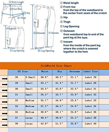 SiikWorld Men's Twill Cargo Shorts 533# Sky Blue US 31 (Label 32)