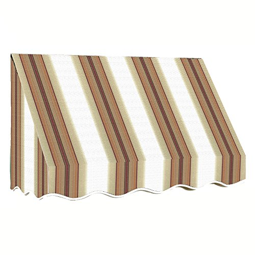 rancisco Window/Entry Awning, 31 by 24-Inch, White/Linen/Terra Cotta ()