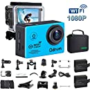 WIFI Action Camera Waterproof 170 Degree Angle Underwater Camera Diving 30M With 2.0Inch LCD And 19PCS Accessories for Kids, Snorkeling,Fishing, Swimming, Biking, Racing, Motocross And Water Sports
