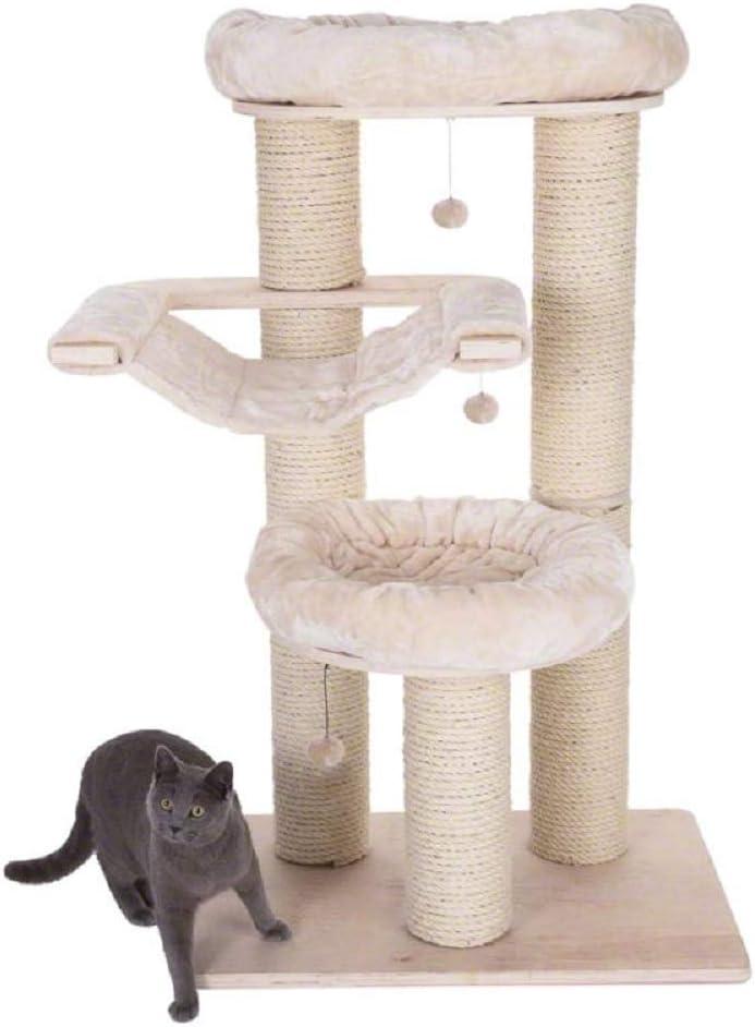 Natural Paradise - Árbol para gatos (tamaño grande), color crema