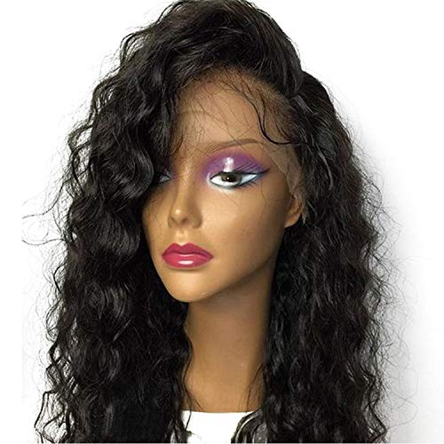 Glueless Silk Base Full Lace Wigs Human Hair With Baby Hair Pre Plucked Hairline Brazilian Non Remy Hair Loose Wave,Natural -