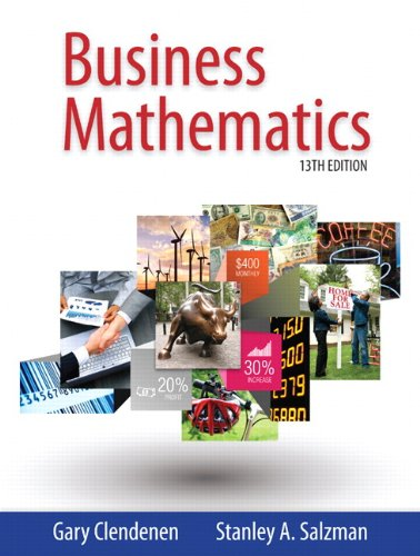 Business Mathematics (13th Edition)