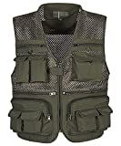 InMoo Men's Mesh Fishing Vest Multi Pockets Photography Outdoor Climbing Causual Tactical Vest-Multi Use Vest