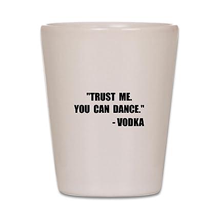 amazon com cafepress vodka dance shot glass shot glass unique