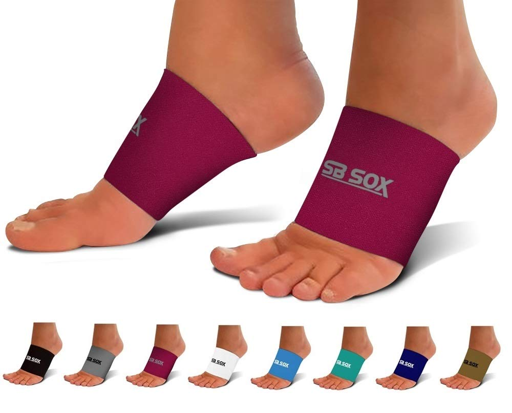 SB SOX Compression Arch Sleeves for Men & Women - Perfect Option to Our Plantar Fasciitis Socks - for Plantar Fasciitis Pain Relief and Treatment for Everyday Use with Arch Support (Pink, X-Large) by SB SOX