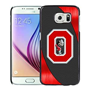 Grace Protactive Ncaa Big Ten Conference Football Ohio State Buckeyes 14 Black Case Cover for Samsung Galaxy S6