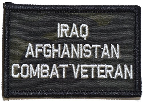Iraq Afghanistan Combat Veteran - 2x3 Morale Patch (Multicam BLACK)