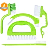Jetec 5 Pieces Tile Joint Scrubber Brush Handheld Groove Brushes Grout Cleaner Tools for Window Bathroom Kitchen Floors Deep Cleaning