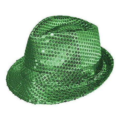 98f4e8c414b11c Adult / Kids Colourful Fancy Dress Sequin Fedora Hat (Baby Pink):  Amazon.co.uk: Clothing