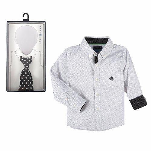 Andy   Evan New Black   White Polka Dot Long Sleeve And Dot Tie 2 Piece Set   Boys   Size 2T
