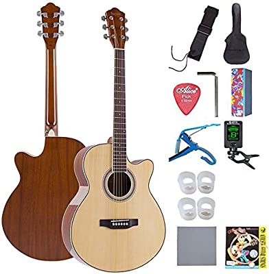 Boll-ATur Balada de 40 pulgadas Guitarra acústica Muesca ...
