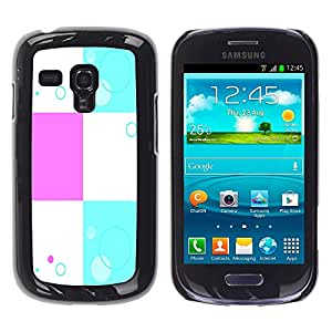 - Square Check Damier Checkered Pattern - - Hard Plastic Protective Aluminum Back Case Skin Cover FOR Samsung Galaxy S3 Mini I8190 Queen Pattern