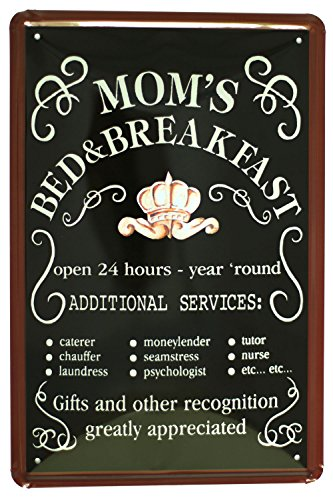 The Sign MOM'S BED BREAKFAST tin sign 8*12inch (Moms Kitchen Sign)