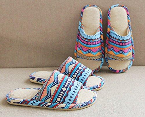 Comfortabel Dames Vlas Comfortabele Open Teen Pantoffels Dames Pantoffels Rood