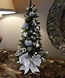 Ornate 22'' Topiary Tree, Artificial Cordless Pre-Lit with Timer FREE SHIPPING