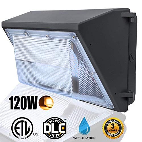 LED Dawn Wall Pack Light Fixture, 120W(500~600W HPS/HID Bulb Replacement), Warm White 2500K Wall Mount Pack Light, Waterproof Exterior/Outdoor/ Entrance Security Light, Outdoor Security Lighting For Sale