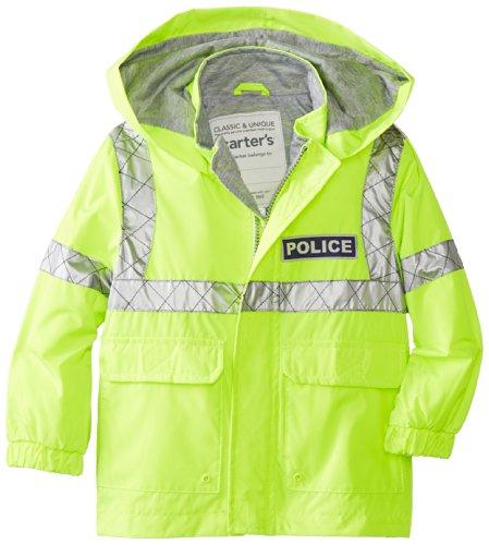 Carter's Little Boys' Policeman Rain Jacket,Yellow,4T