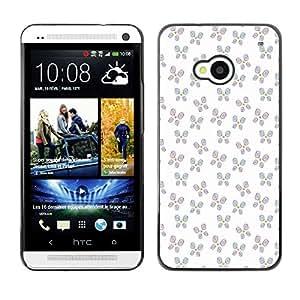 ZECASE Funda Carcasa Tapa Case Cover Para HTC One M7 No.0003623