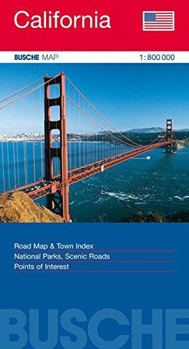 USA California: Busche Map Straßenkarte, 1:800 000 (Busche Map Straßenkarten)