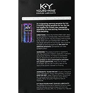 K-Y Yours + Mine Couples Lubricant, 1.5-Ounce, 2-Count Bottles