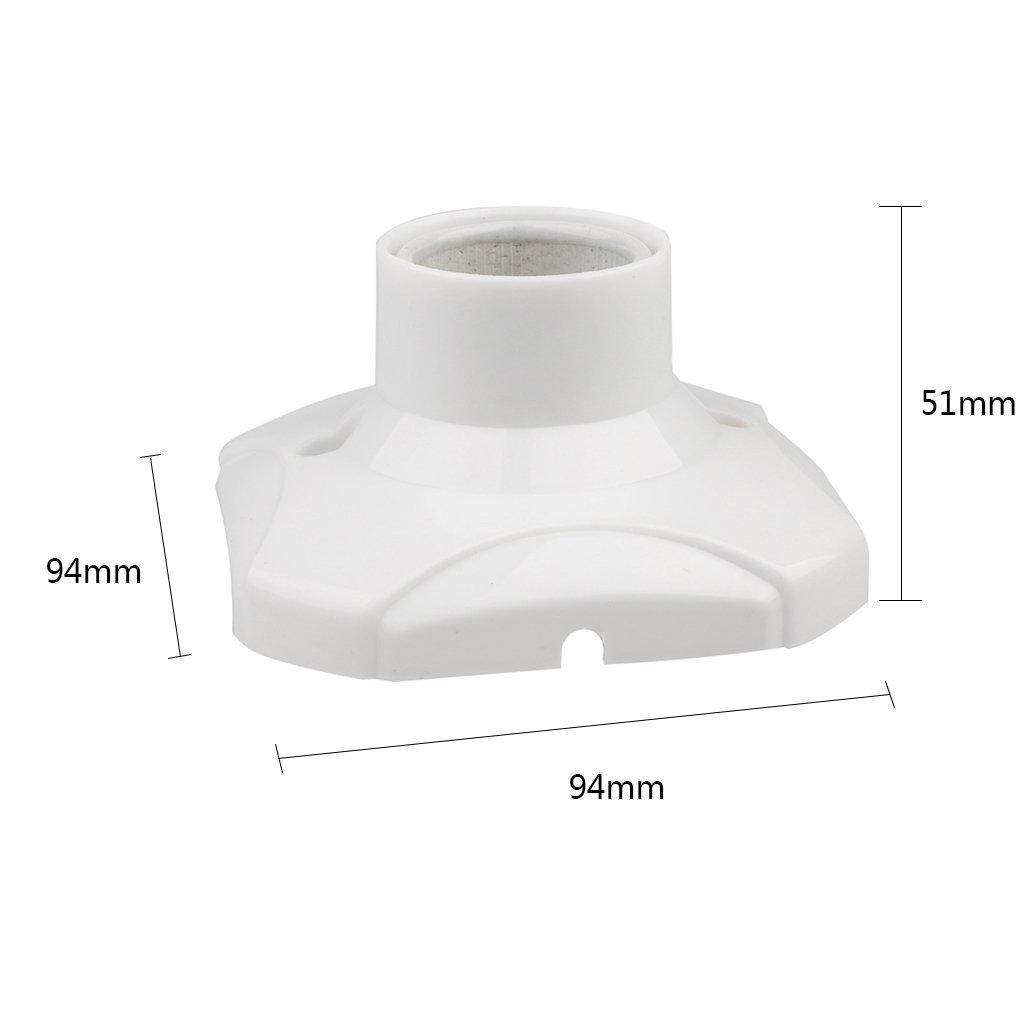 LOVIVER 6x E27 Douille De Lampe Ampoule Douille Porcelaine T/ête Lumi/ère Douille