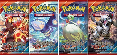 Pokemon X & Y Primal Clash Set of 4 Booster Pack by Pokémon