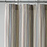 Pier 1 Imports Striped Shower Curtain in Marina Blue