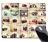Wknoon Gaming Mouse Pad Cameras, Vintage Camera Retro Collection Colorful