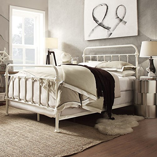 Nottingham Metal Spindle Bed (Furniture White Iron Bedroom Wrought)