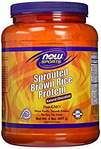 NOW Sports Chocolate Sprout Rice Protein Powder, 2-Pound