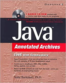 Java Annotated Archives by Nabajyoti Barkakati (1999-05-17)