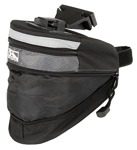M-Wave Clip-on Wedge Bicycle Bag - Black, 20 cm by M Wave by M-Wave
