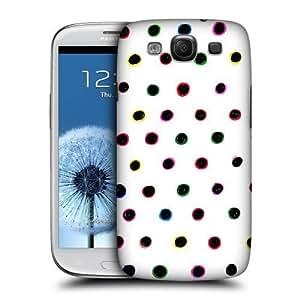 Polka Dots Coloured Doodle Back Case For Samsung Galaxy S3 Iii I9300