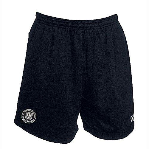 USSF Economy Black Soccer Referee Shorts (Adult Large)