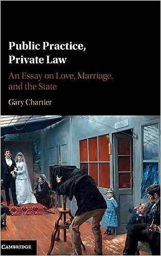 public practice private law an essay on love marriage and the public practice private law an essay on love marriage and the state gary chartier 9781107140608 com books