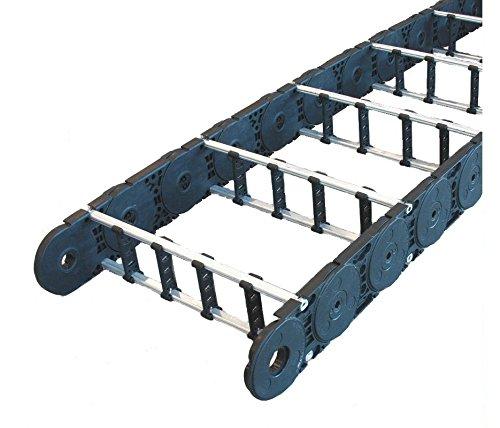 14 x 3.7ID Bend Radius 8.66 L5 Open Kabelschlepp MC1250-14.00-RS-220-4V5 Black with 4 Dividers 15.57x3.78OD Varitrak MC