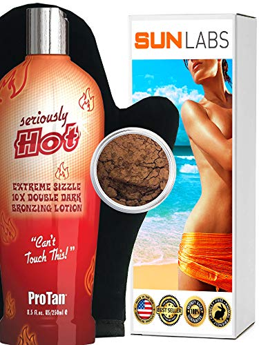 Seriously Hot- Bronzing Lotion 8.5 oz Baby Brown Bronzer 5g Lotion Apllicator Self Tanning Kit