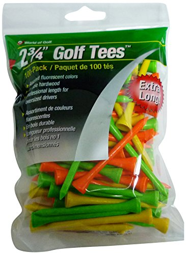 - JEF World of Golf Tee (Pack of 100), 2 3/4-Inch, Fluorescent