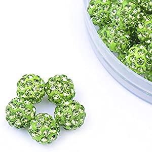 iCherry(TM) 10mm 100pcs/Lot Pave Disco Ball for Rhinestone Crystal Shamballa Beads Charms Jewelry Makings