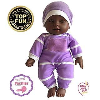"11 inch Soft Body Doll in Gift Box - Award Winner & Toy 11"" Baby Doll (African American)"