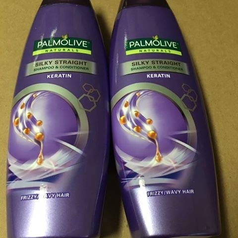 (Lot of 2 Palmolive Naturals Silky Straight Shampoo & Conditioner Frizzy/Wavy Hair 180ml)